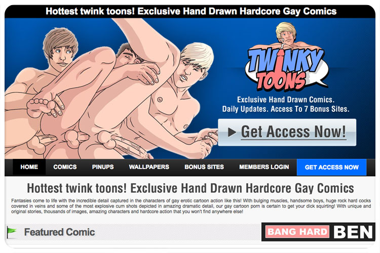 One of the top paid gay websites to have fun with some fine anime material