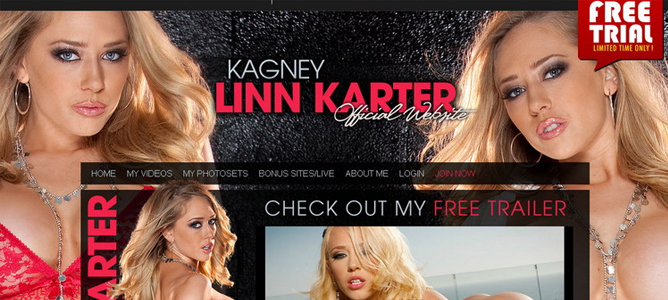 Nice blondes adult website paid for Kagney Linn Karter fans