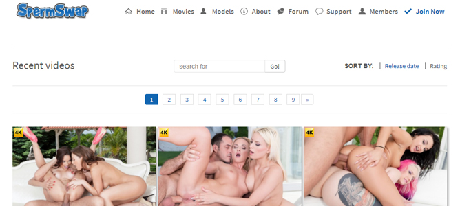 Excellent blowjob porn site for threesome videos