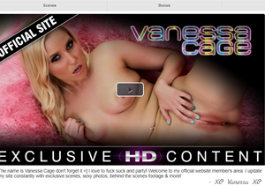 Excellent pay porn site for Vanessa Cage fans.
