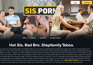 Nice porn paysite if you are into taboo xxx stuff.